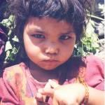 """Nepal Girl-pointing-fingers"" by JayShapiro"