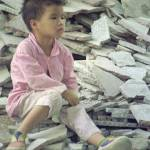"""Girl-in-the-rubble-Guangzhou-1995"" by JayShapiro"