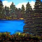 """Pine Tree scenery"" by Cindisart"