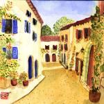 """""""mediterranean side street II"""" by arlene72"""