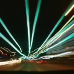 """San Antonio Light Trails #1"" by Risha"