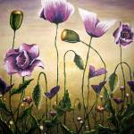 """Purple Poppies"" by Gilmore"
