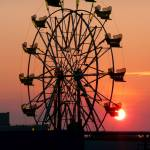 """Ferris Wheel at Sunset"" by dcschaub"
