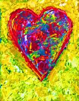 Colorful Heart Painting