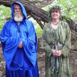 """""""Wizard and Druid priestess in the woods"""" by maskit5256"""