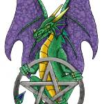 """Dragon of the pentacle"" by aldana"
