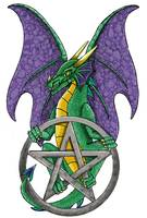 Dragon of the pentacle