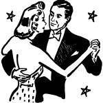 """Dancing with Stars, detail from 1953 ad"" by arcaniumantiques"