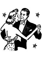 Dancing with Stars, detail from 1953 ad
