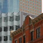 """Denver-Downtown  architechure, new and old"" by RJWhetstone"