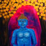 """Buddha under golden leafs"" by benpotter"