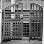 """""""gate in black and white"""" by jeannequiltslinden"""