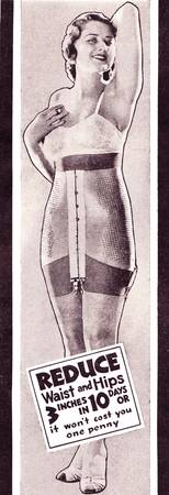 Reduce, detail from 1932 girdle ad