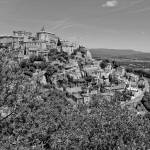 """Village of Gordes, Provence (b/w)"" by Conlawprof"