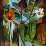 """Abstract Floral Still Life Oil Painting"" by WieberArt"