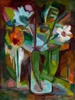 Abstract Floral Still Life Oil Painting