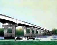watercolor garrison ave bridge