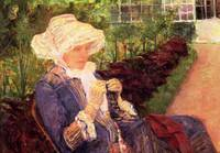 Lydia in Marlis Garden Doing Crochet 1880