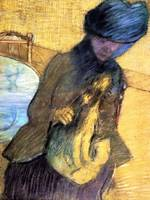 Mary Cassatt with a Little Dog 1890