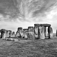 """Stonehenge in Black and White"" by PJPHOTO"