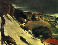 Schneeschmelze in L'Estaque by Paul Cezanne