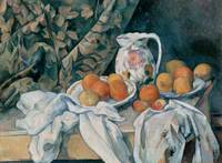 Stilllife With A Curtain by Paul Cezanne