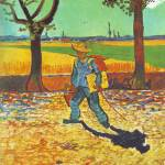 """Painter On His WayTo Work by Vincent Van Gogh"" by BlueMoonArts"