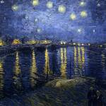 """Starry Night Over the Rhone by Vincent Van Gogh"" by BlueMoonArts"