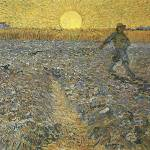 """The Sower by Vincent Van Gogh"" by BlueMoonArts"