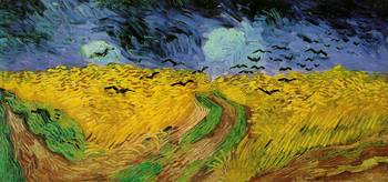 Wheat Field with Crows, 1890 by Vincent Van Gogh