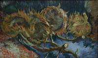Four Sunflowers by Vincent Van Gogh
