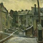 """Houses Seen from the Back by Vincent Van Gogh"" by BlueMoonArts"