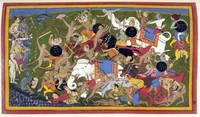 Battle at Lanka, Ramayana, Ramayana, by Sahib Din