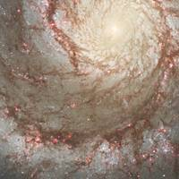 Close-up of the Whirlpool Galaxy, M51
