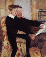 Portrait of Alexander J. Cassat and His Son Robert