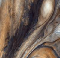 PIA00020: Color East of Jupiter's Great Red Spot