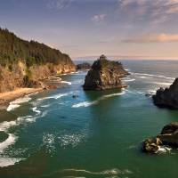 """Southern Oregon Coast Panorama"" by Peter B. Kunasz"