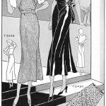 """1932 Fashions, dress patterns; artist unattributed"" by arcaniumantiques"