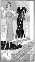 1932 Fashions, dress patterns; artist unattributed