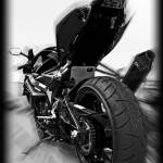 """Suzuki GSXR Motorcycle Zoomed Black and White"" by palmsrick"