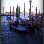 """Venice lagoon and gondolas"" by sylviacook"