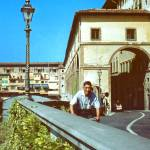 """""""Florence with Ponte Vecchio, Italy, Summer 1961"""" by PriscillaTurner"""