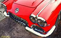 1958 Chevrolet Corvette Front Red