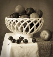 Still Life with Cherries and Nectarines