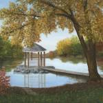 """Gazebo on the Pond"" by elainerittler"