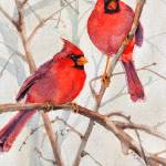 """Cardinal Brothers"" by SharonRMorgio"