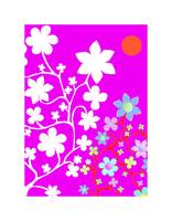 Bling Florals 10 (pink, white, blue flowers, sun)