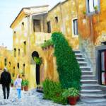 """A Stroll With Papa in Italy"" by rodholmstudio-digitallimn"