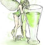 """Absinthe Fairy with Glass"" by opheliasart"