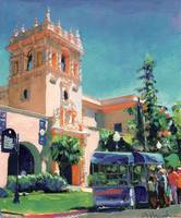 Ice Cream Cart in Balboa Park, San Diego Art